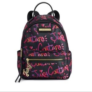 Juicy Couture black city excursion backpack NEW
